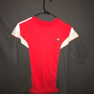 Vintage Adidas red T-shirt large